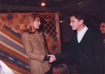 بهاء مع الملكة نور الحسين