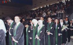 علاء في حفل تخريج جامعة العلوم التطبيقية
