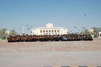 بهاء في حفل تخريج الجامعة الأمريكية في الشارقة