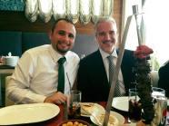 بهاء مع محمد تمر الرئيس التنفيذي لمجموعة تمر