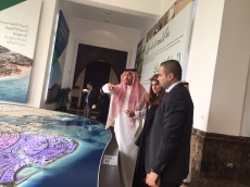 بهاء في جولة مع الأميرد دينا في مدينة الملك عبدالله الاقتصادية بجدة