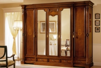 regina-noce-armadio-a-5-ante-3-ante-centrali-a-specchio-classic-style-wardrobe