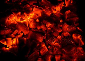Glowing coal background.