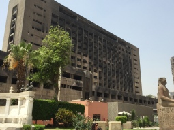مقر الحزب الوطني الذي تم حرقه أثناء الثورة