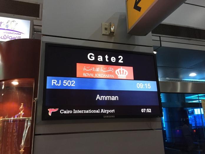 من ميناء القاهرة الجوي إلى عمان