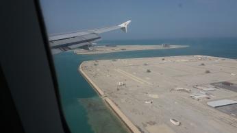 أثناء الهبوط في البحرين