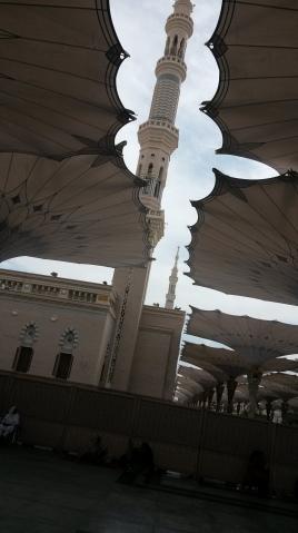 من داخل الحرم النبوي الشريف