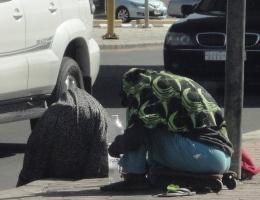 التسول في شوارع جدة