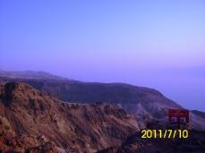 منظر الجبال ساعة الغروب