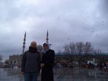 أمام مسجد آية صوفيا