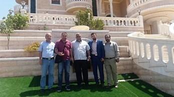 من اليمين: د. رائد ابو دية، د. اياد ابو خضير، د. حرب رضوان، د. علاء عبود و الأستاذ جميل عبود